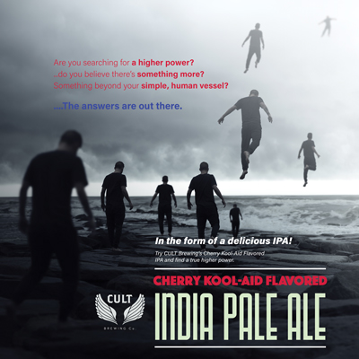 Cult Brewing India pale ale (IPA) advertisement