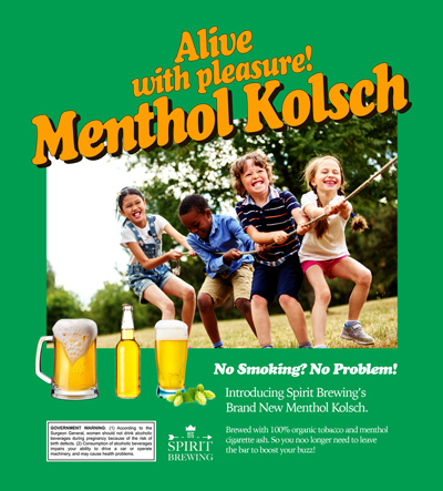 Menthol Kolsch from Spirit Brewing Advertisement